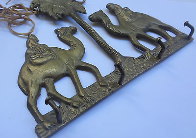Vintage Solid Brass Wall Hanging Key Hook CAMELS # Free Shipping