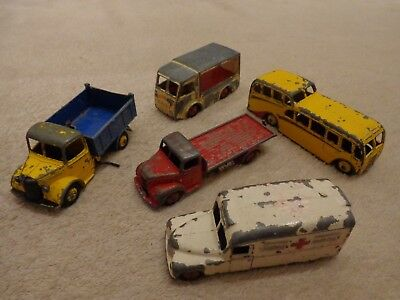 Job lot of Vintage 1950's Dinky Toys for Spares or Repair