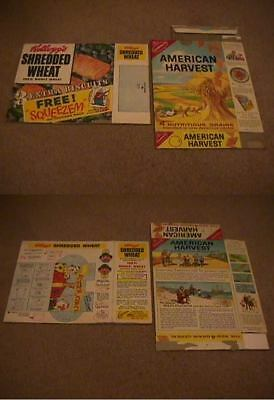 cereal box Nabisco AMERICAN HARVEST trading card 1950s CANADA issue (RIGHT box)