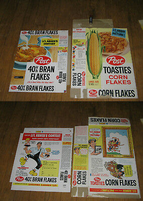 cereal box (1 box only) POST Toasties Lil Abner Al Capp 1950s comic premium