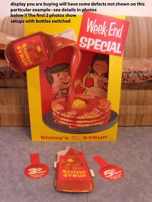 Staley Pancake Syrup Waffle 1960s vintage 3-D display cereal box (11 items!)