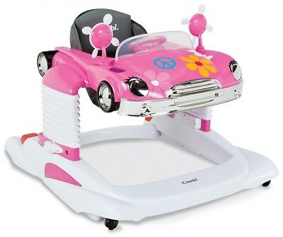 Combi All-in-One Mobile Entertainer Baby Walker Classic Flower Power Car NEW