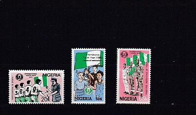 a130 - NIGERIA - SG492-494 MNH 1985 INTERNATIONAL YOUTH YEAR