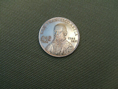 1975 Malta  .987 Solid  Silver  £2 Coin..... Mint Condition..  Very Low Mintage.
