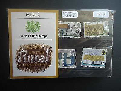 Great Britain Presentation Packs 1970 Year Set (6 Packs) MNH