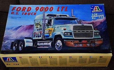 ITALERI Ford 9000 LTL 1/24 US truck Lone Wolf model kit Bausatz  No 728