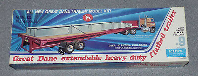 Great Dane extendable heavy duty fltbad trailer, ERTL