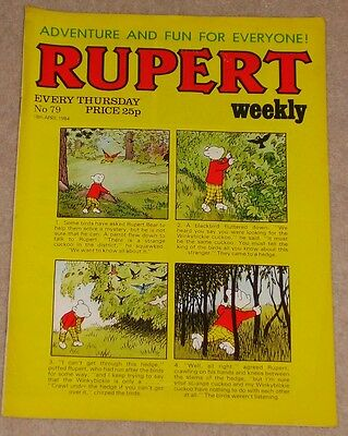 RUPERT BEAR WEEKLY COMIC NO. 79 DATED 18th APRIL 1984