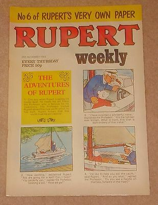 RUPERT BEAR WEEKLY COMIC NO. 6 DATED 24th NOVEMBER 1982