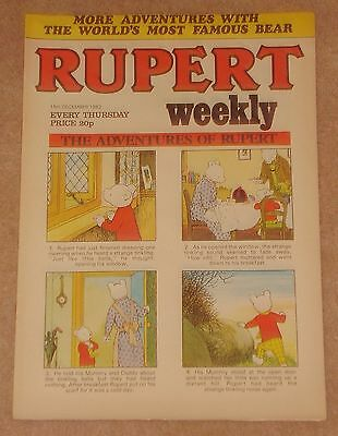 RUPERT BEAR WEEKLY COMIC NO. 9 DATED 15th DECEMBER 1982