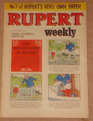 RUPERT BEAR WEEKLY COMIC NO. 7 DATED 1st DECEMBER 1982