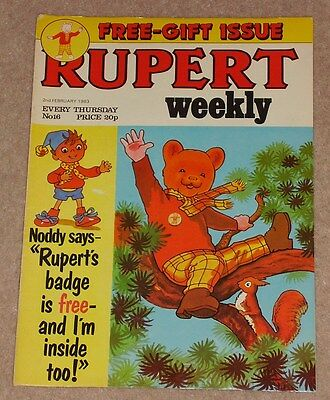 RUPERT BEAR WEEKLY COMIC NO. 16 DATED 2nd FEBRUARY 1983