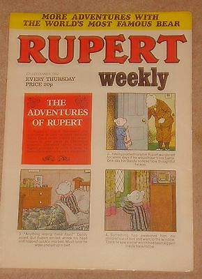 RUPERT BEAR WEEKLY COMIC NO.10 DATED 22nd DECEMBER 1982