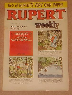 RUPERT BEAR WEEKLY COMIC NO. 5 DATED 17th NOVEMBER 1982