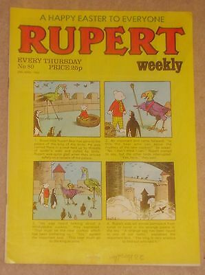 RUPERT BEAR WEEKLY COMIC NO.80 DATED 25th APRIL 1984