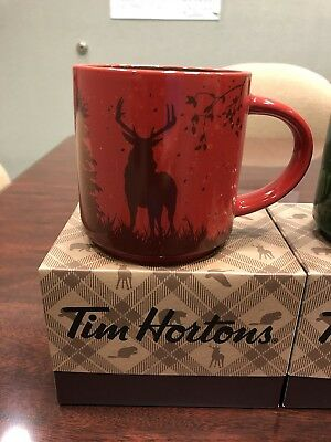 New 2017 TIM HORTON CHRISTMAS COFFEE MUG CARIBOU RARE