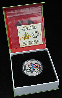 2015 Canada 20$ Dollars Fine Silver Coin Superman Action Comics No.1