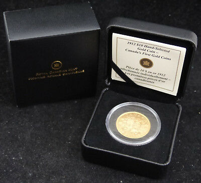 1912 Canada 10$ Dollars, .900 Gold Coin Canada's First Gold Coin