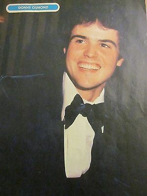 Donny Osmond, The Osmonds, Bay City Rollers, Full Page Vintage Pinup