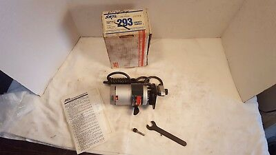 Unused Vintage SKIL Model #293 Laminate Trimmer Router with Box, Manual, Wrench