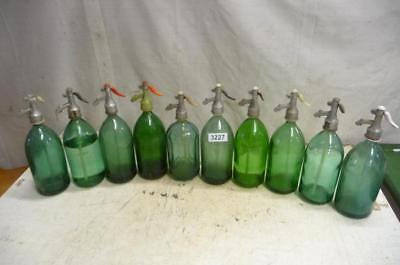 3227. 10 alte Sodaflaschen Siphonflasche Old soda siphon seltzer