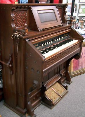 Antique 1800's Victorian W. W. Kimball PUMP ORGAN Works Chicago IL