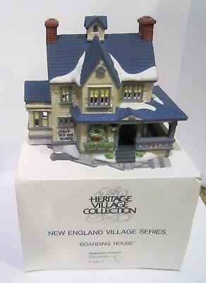 Department 56 New England Village Series Ada's Bed & Board Boarding House 5940-4