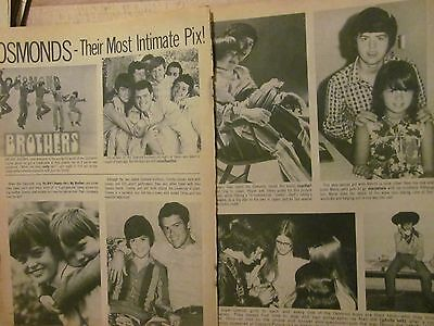 The Osmonds, Donny, Osmond Brothers, Two Page Vintage Clipping
