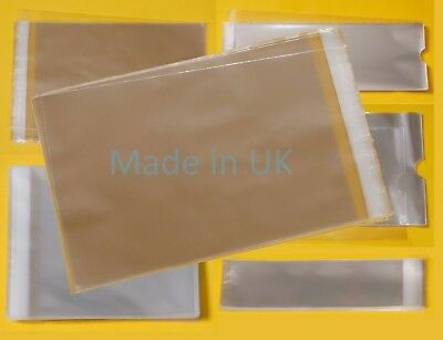 MULTI Bags Crystal Clear Cellophane Bags - Cello For Multi Packs of Cards/Photos