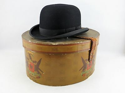 Derby Felt Hat by Knox size 7 ½ with Original Hat Box Antique