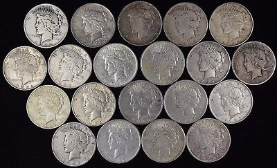 Lot of (20) Silver Peace Dollars (a198.5)
