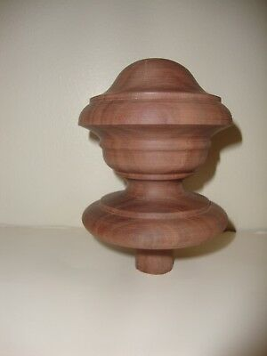 Wood Finial Unfinished For Newel Post Finial Or Cap #92