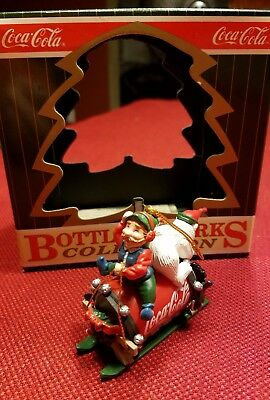Coca-Cola Bottling Works Collection Christmas Ornament 1996 Elf & Polar Bear