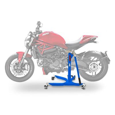 ConStands Rear Motorcycle Paddock Stand for Ducati Scrambler Desert Sled V5 Vario L Height Ajustable red