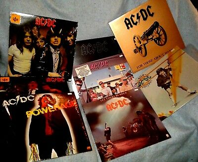 AC/DC 8 LP LOT Back In Black Highway To Hell Dirty Deeds Done Dirt Cheap