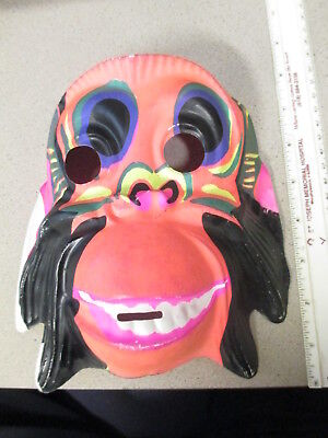 halloween mask (1 item unused) 1970s animal psychedelic crazy MONKEY monster