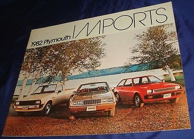 BS409 1982 Plymouth Imports Colt Sapporo Dodge Ram 50 Pickup Sales Brochure