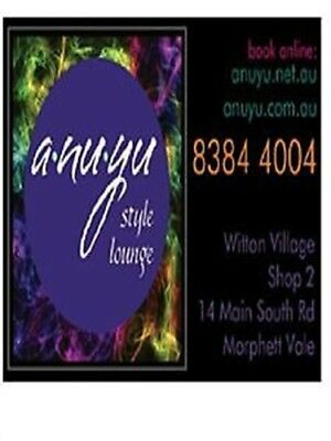$150 Hair Services Gift Voucher for ANUYU STYLE LOUNGE MORPHETT VALE 5162 SA
