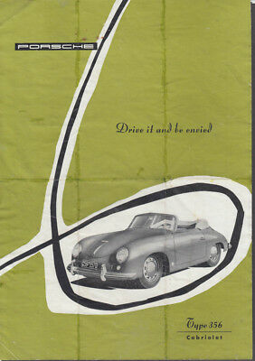 Porsche Type 356 Cabriolet sell sheet 1955 Printed in Germany