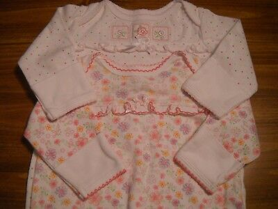 Baby Girls Cotton Sleep GOWNS by Little Me, 0-3 Months, EUC! Free Shipping!