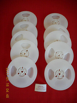 (10) *NEW* REGULAR 8  8mm 200' PLASTIC REELS   (WHITE)