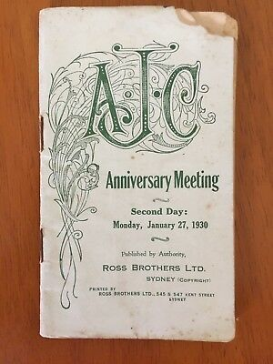 1930 AJC Anniversary Meeting Day 2 race book Adrian Knox Stakes