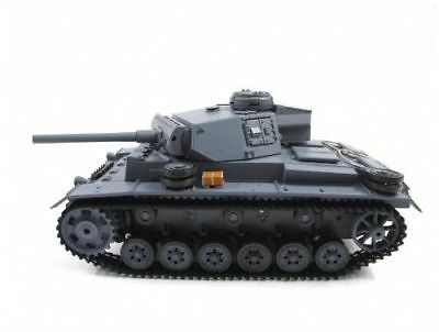 NEWEST 2.4G Henglong 1:16 R/C S&S German Panzer III Tank