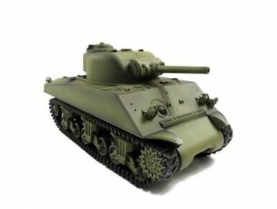 NEWEST 2.4G Henglong 1:16 R/C S&S American M4A3 Sherman Tank