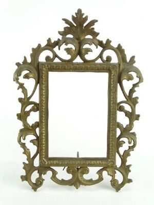 Large Old French Ornate Brass Book Holder Rococo Style - Excellent for Recipe