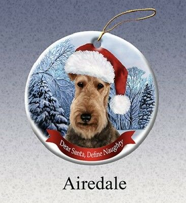 Define Naughty Ornament - Airedale Terrier