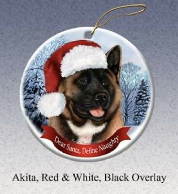 Define Naughty Ornament - Red Akita