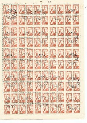 Russia Full Sheet 100  x 1 Pyb  CTO Stamps . See Scan
