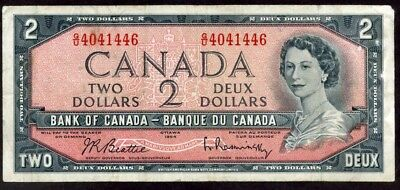Canada 2 Dollars 1954 Note  !!!!!  Vf