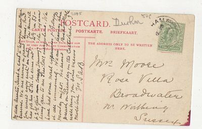 Mrs Moore Rose Villa Broadwater Nr Worthing 1909 425a